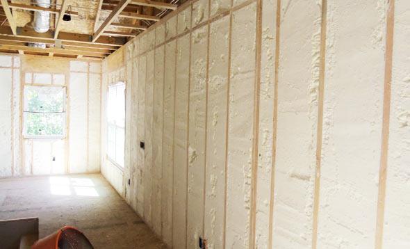 Open-cell-sprayfoam-wall-insulation