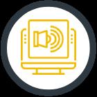 Acoustically treat icon